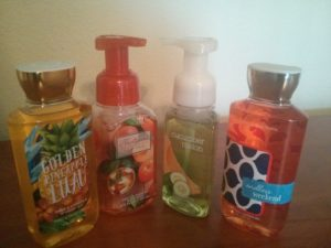 shower gel and soap