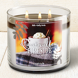 candle marshmallow fireside