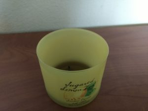 candle sugared lemon